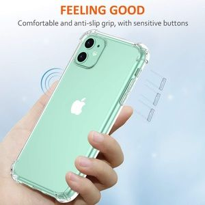 iPhone 11 clear case shockproof thin case